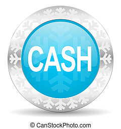 cash icon, christmas button