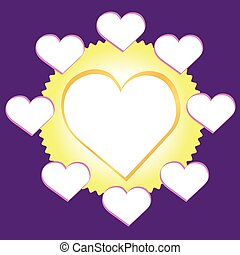 Hearts frames for photos - for family lineage, vetor format