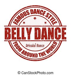 Belly dance stamp