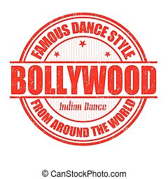 Bollywood stamp - Famous dance style, bollywood grunge...