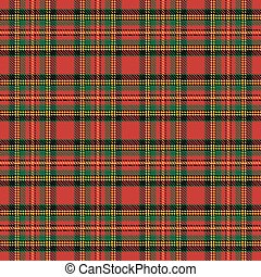 tartan pattern - Seamless background with red scottish...