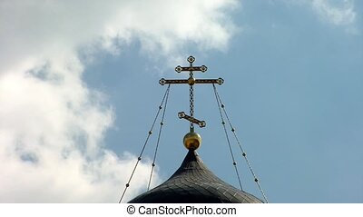 The cross on the dome of the Church - Ivatsevichi, Belarus...
