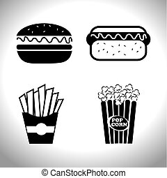 Food and restaurant design, vector illustration - Food and...