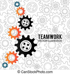 Teamwork design,vector illustration. - Teamwork design over...