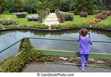 The Rose Garden of Palmerston North NZL - Little girl (age...