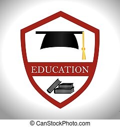 Education design, vector illustration. - Education design...