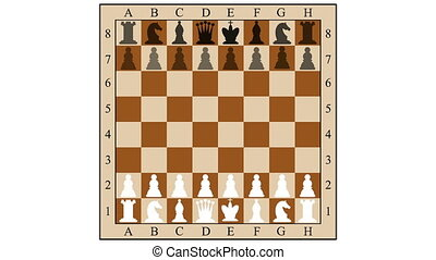 Chess combination mate in three moves Children mat Gambit 2d...