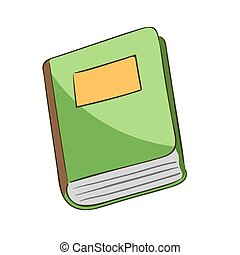 Book cartoon - Vector illustration of a book