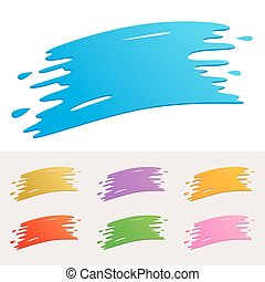 Colorful Paint Splatter - Vector illustration of paint...