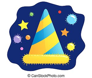 Party hat - Vector illustration of a party hat