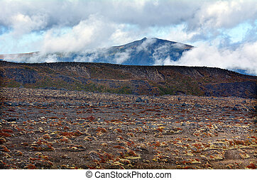 Landscape of Tongariro National Park - NATIONAL PARK, NZ -...