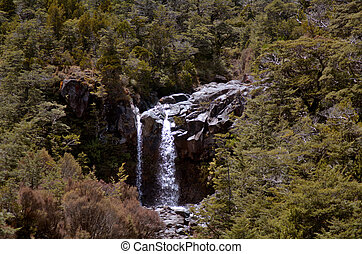 Mangawhero falls in Tongariro National Park - NATIONAL PARK,...
