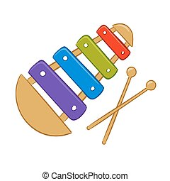Xylophone - Vector illustration of colorful xylophone
