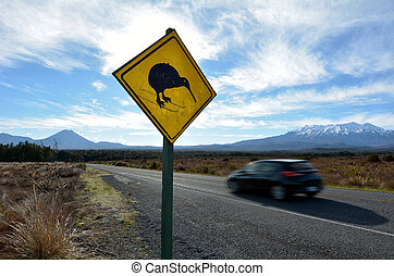 Car drive through Tongariro National Park - NATIONAL PARK,...