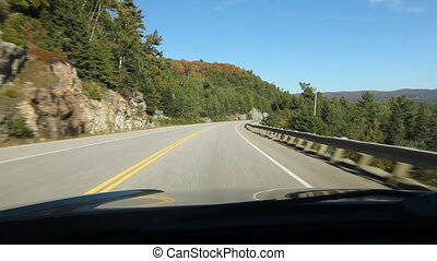 Driving North shore Lake Superior - North shore of Lake...