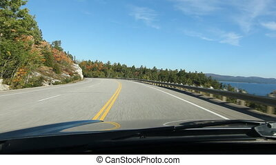 Driving North shore Lake Superior. - North shore of Lake...