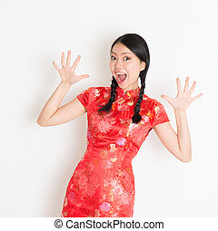 Shacked Asian chinese girl - Portrait of Asian Chinese girl...