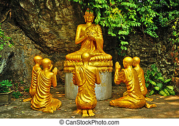 Buddha and Monks in Meditation