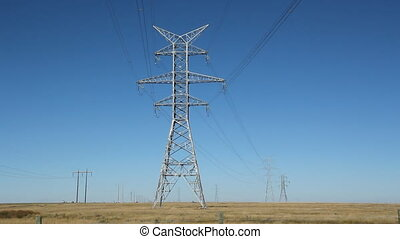 Giant electrical pylons - Big electrical pylons in the...