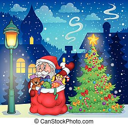 Santa Claus topic image 3 - eps10 vector illustration.