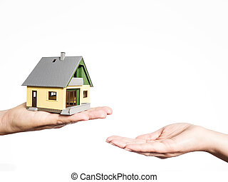 selling a house - two hands and a house, selling a house,...
