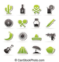 Mexico and Mexican culture icons