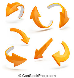 3d arrows on white background