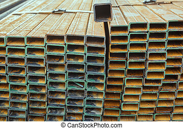 Rectangular metal pipe for construction get corrode