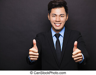 Smiling asian businessman with
