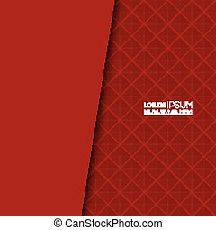 Vector blank with red background and uniform texture for...
