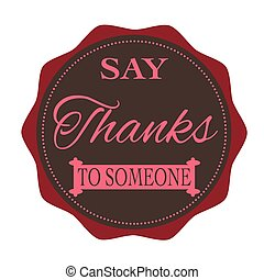 say thanks to someone stamp