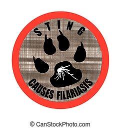 sting causes filariasis stamp