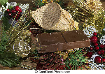 Chistmas decorations and desserts - Christmas period and...