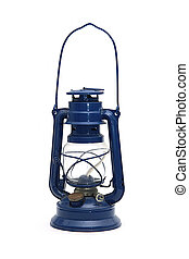 Hot blast kerosene lantern on isolated background