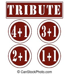 tribute - Set label stamp with text Tribute on vecto...