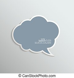 Abstract background with paper speech bubble vector flat...
