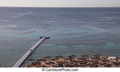 Panoramic view of the beach Egypt - Panoramic view of Reef...