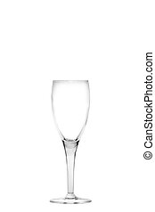 Empty champagne flute - Isolated empty champagne flute