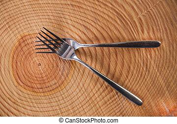 conjuntos, de, tenedores,