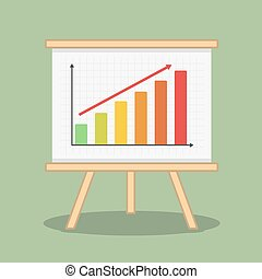 Bar Graph - Bar graph, flat design, vector eps10...