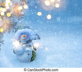 Art Christmas holidays background