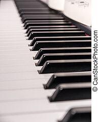 piano keys and music sheet