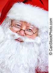santa portrait - Close-up portrait of Santa Claus Christmas...