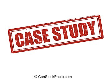 Case study - Rubber stamp with text case study inside,...