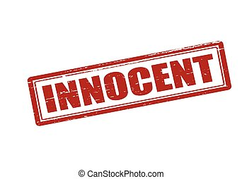 Innocent - Rubber stamp with word innocent inside, vector...