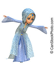 Little Fairy - 3D digital render of a cute little fairy...