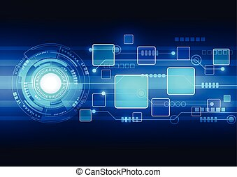Abstract technology background design vector