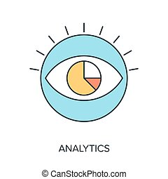 Analytics - Vector illustration of analytics flat line...