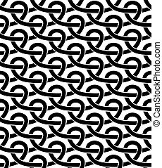 Black and white geometric seamless pattern with netting...