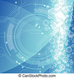 Abstract circuit board background, vector illustration